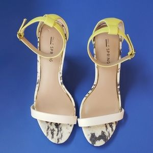 Call It Spring Ankle Strap Sandal Heels